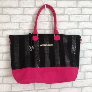 VICTORIA'S SECRET SEQUIN TOTE BAG